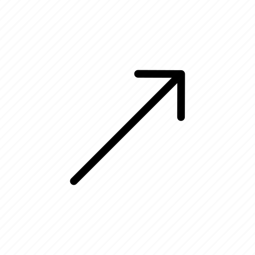 arrow, right, side, up icon