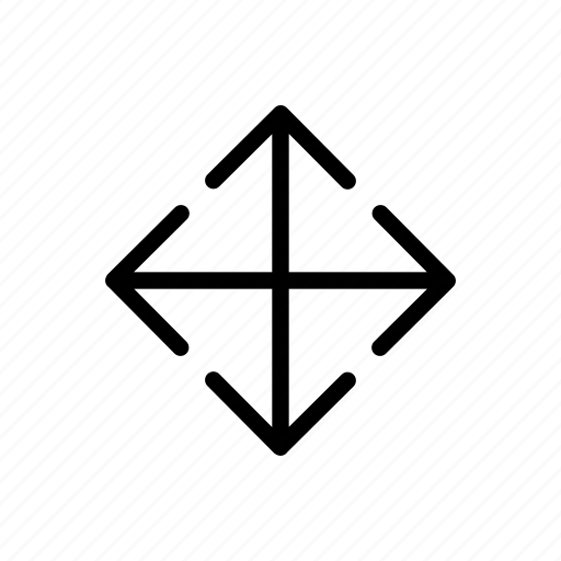 around, arrow, down, left, move, right, sides, up icon