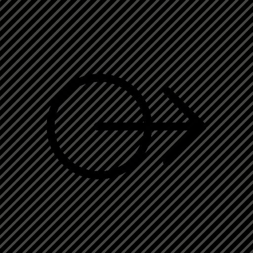 arrows, circle, move, right, swipe icon
