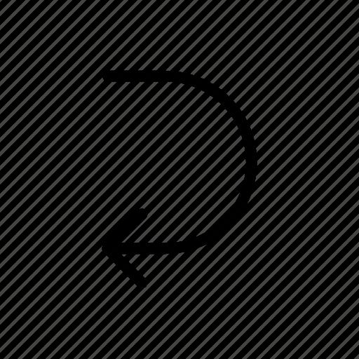 arrows, make, side, sides, u-turn icon