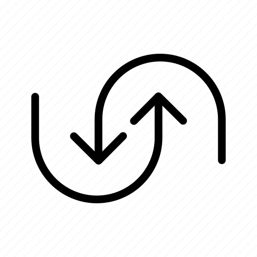 arrows, double, make, move, sides icon