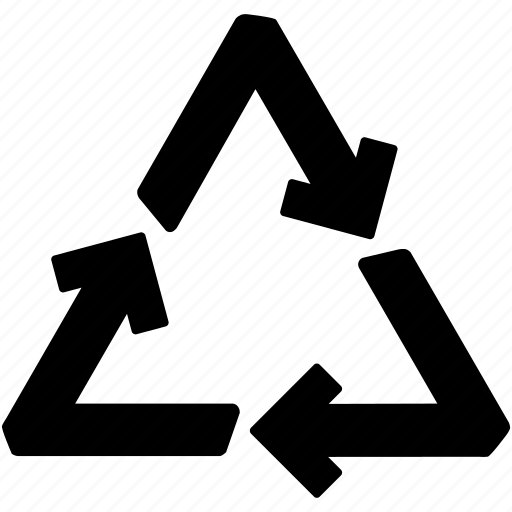 arrows, recover, recyclable, recycle, renewable, reusable, trash icon