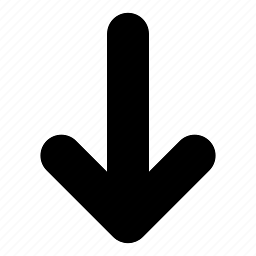 arrow, arrows, direction, down, down arrow, download, downward icon
