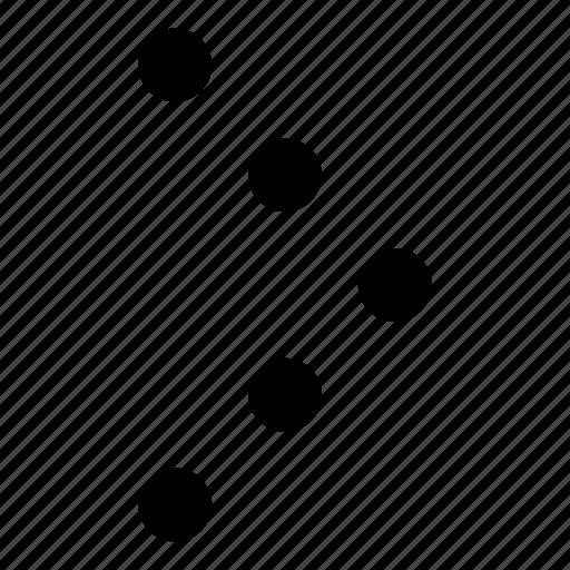 arrow, direction, dot arrow, right, right arrow icon