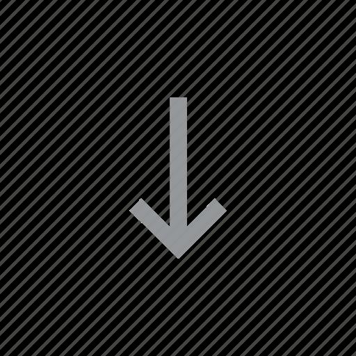arrow, direction, down, konnn icon