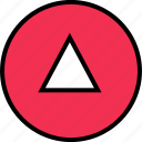 arrow, direction, down, triangle icon