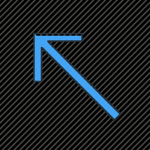 arrow, diagonal, direction, multimedia, pointer icon