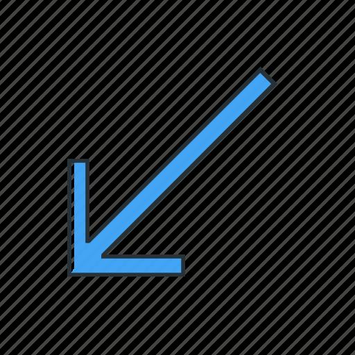 arrow, diagonal, multimedia, pointer icon
