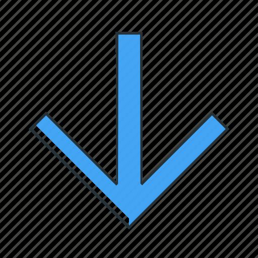 arrow, direction, down, multimedia, pointer icon