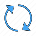 exchange, multimedia, reload icon