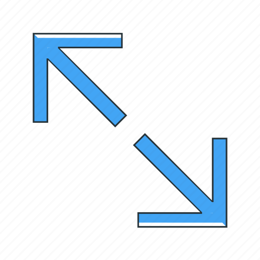 expand, multimedia icon