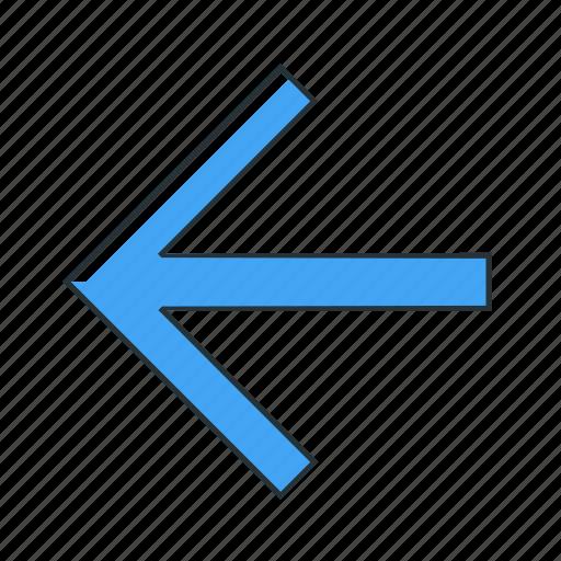 arrow, direction, left, multimedia, pointer icon