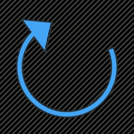 arrow, direction, multimedia, redo, refresh icon