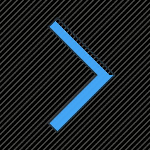 arrow, direction, multimedia, next, pointer, right icon