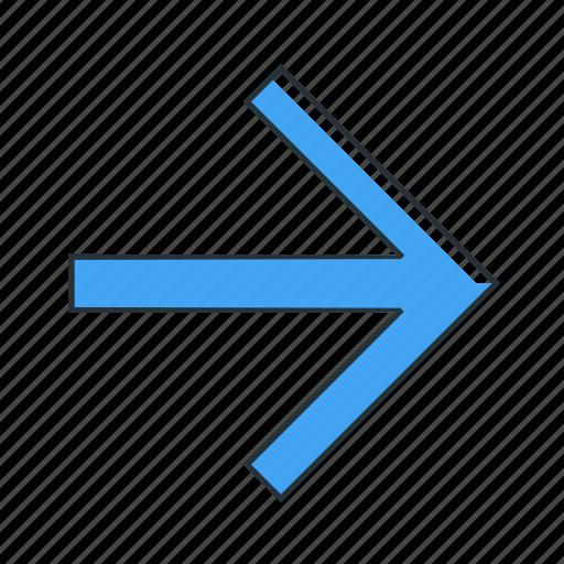 arrow, direction, multimedia, pointer, right icon