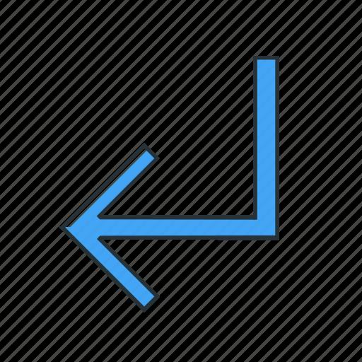 direction, left, multimedia, turn icon