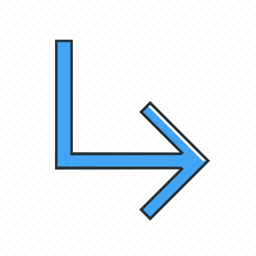 direction, multimedia, right, turn icon