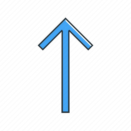 arrow, direction, multimedia, pointer, up icon