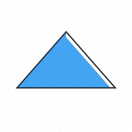 arrow, direction, multimedia, triangle, up icon