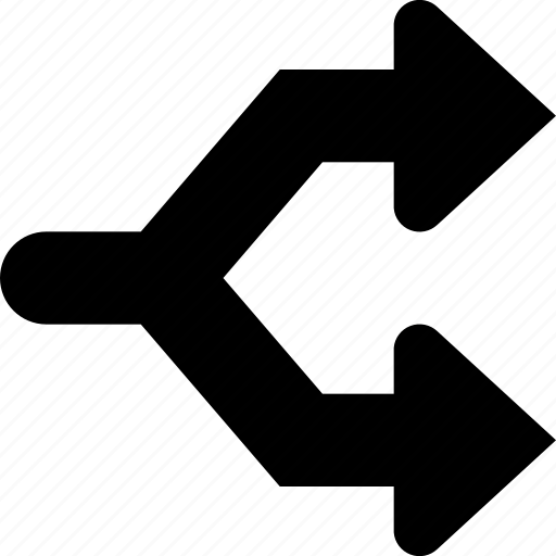 arrow, diverge icon