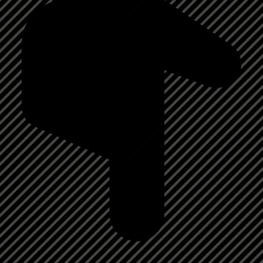 down, point icon