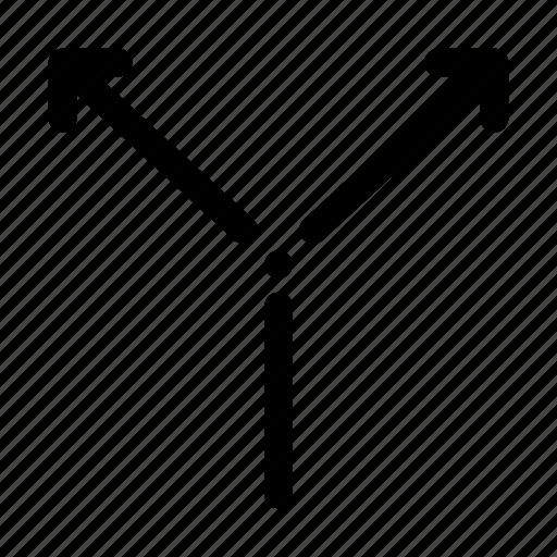 arrows, branch, branching, fork icon