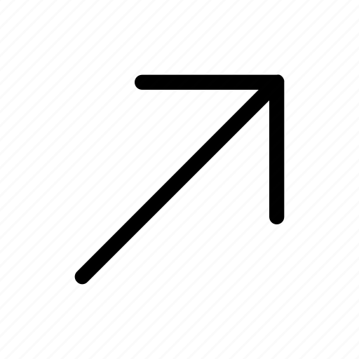 arrow, move, right, top, up icon
