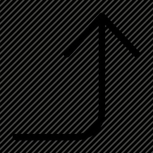 arrow, corner, direction, right, top icon