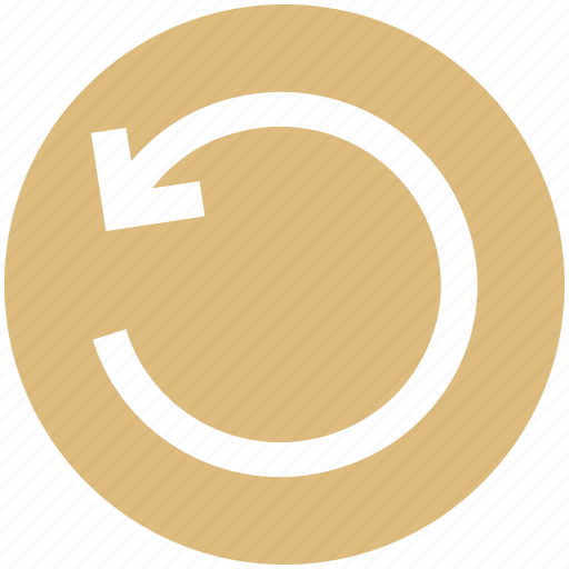 Arrow, circle, left, line, rotate icon - Download on Iconfinder