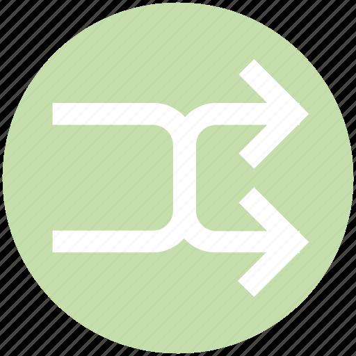 arrow, arrows, line, right, shuffle icon