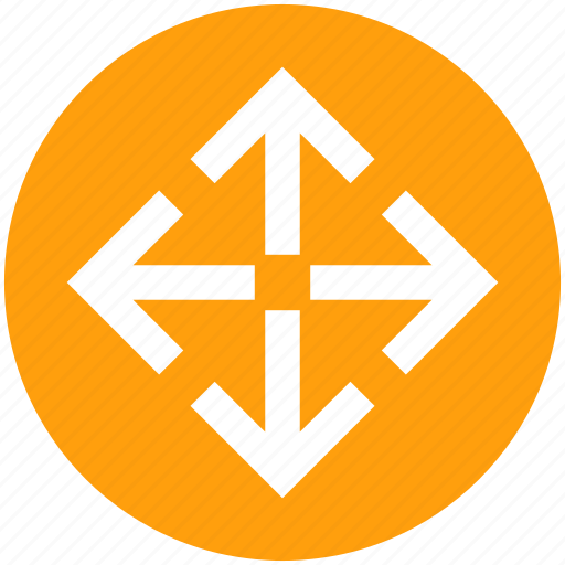 arrows, directions, enlarge, four, four arrows icon