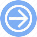 arrow, circle, forward, material, right icon