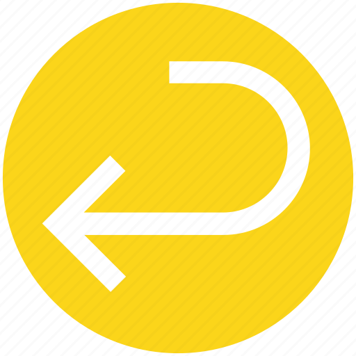 arrow, left, line, material, rotate icon