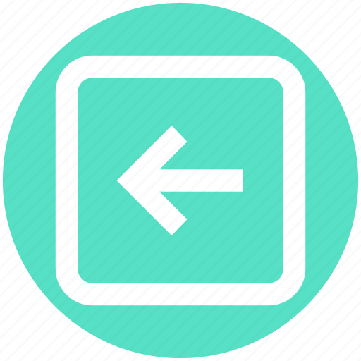 arrow, box, forward, left, left arrow icon