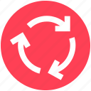 arrows, circle, loading, loading arrow, rotate, sync icon