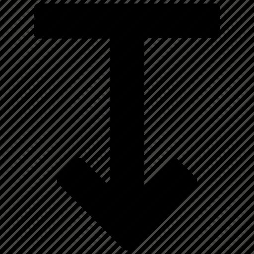 arrow, bottom, descend, down, download, downward icon