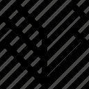 arrow, direction, point