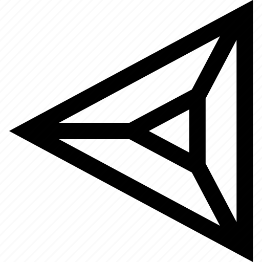 arrow, left, pointer, triangle icon