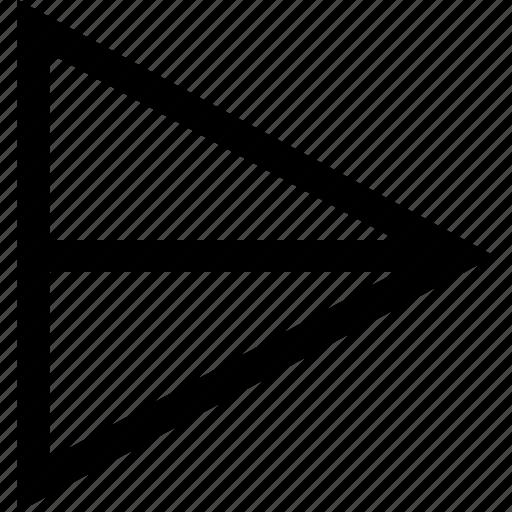 arrow, right, sleek icon