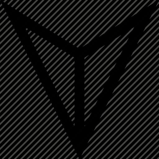 direction, pointer, sleek icon