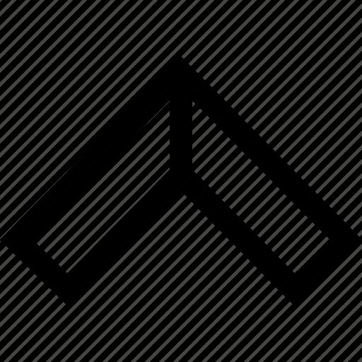 arrow, pointer, up icon