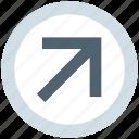 .svg, arrow, circle, forward, material, up right