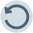 arrow, circle, left, line, rotate icon