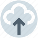 cloud, cloudy, data, storage, up arrow, upload, weather