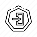 arrow, enter, entrance, entry, left, road icon