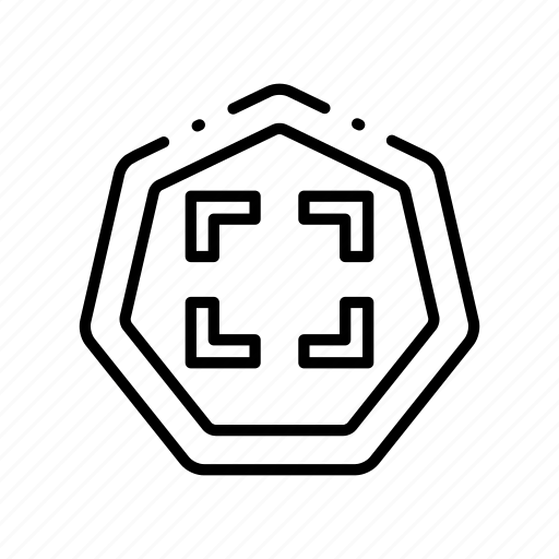 area, business, contour, law, set, square icon