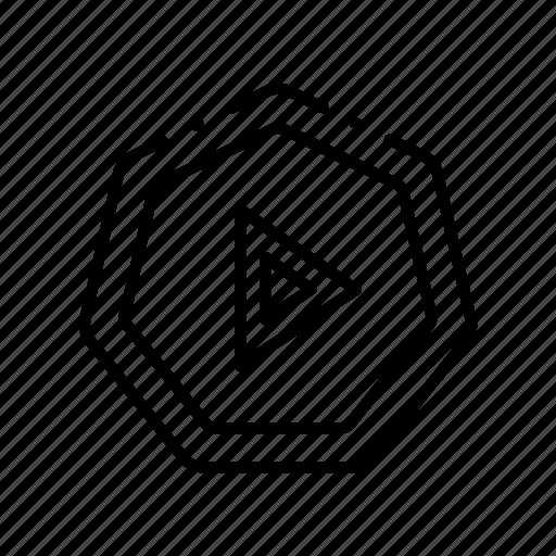 circle, media, plastic, play, player, video icon