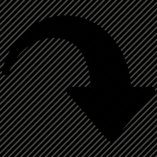 action, arrow, back, circle, recall, redo, right icon