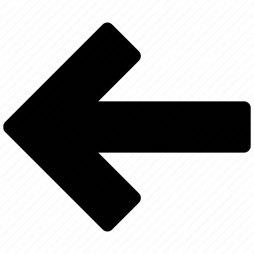 arrow, course, direction, guidance, left, line, thin icon