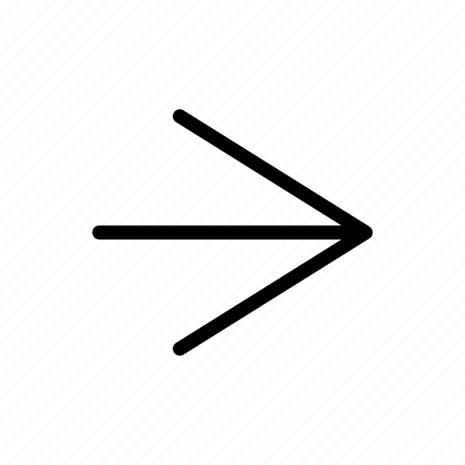 arrow, direction, line, right, shape icon